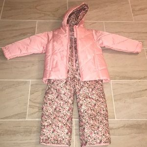 OshKosh 2-Piece Girl's Floral SnowSuit